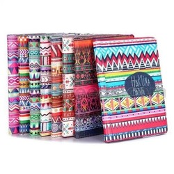 Tribal Pattern 360 Rotating Elastic Belt Flip Stand PC+PU Leather Case for iPad Air 2