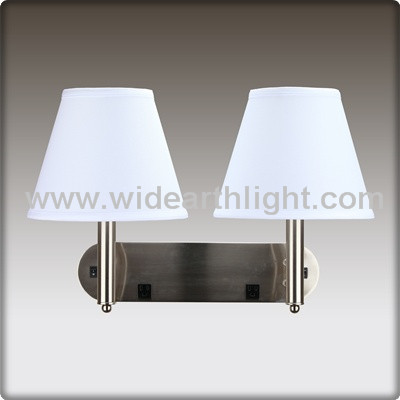 Wall Lamp With Electrical Outlet : Ul/cul Listed Hotel Double Arm Wall Lamp With Convenience Power Outlet/electrical Outlets And ...