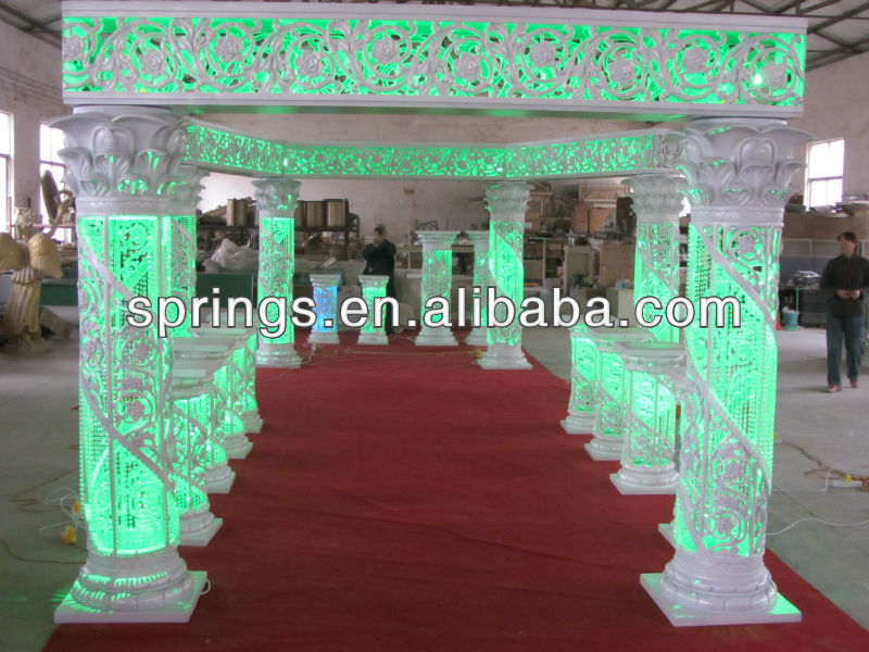Used Wedding Reception Decorations : Wedding columns used decorations