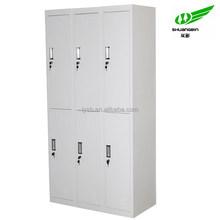 6 door Metal cheap clothes cabinet,locker cabinet,steel dressing cabinet