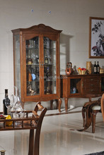 Model:06JG04 Antique bamboo material wood wine glass display cabinet