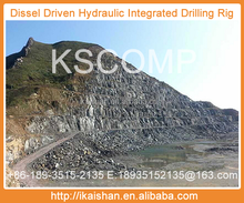 High capacity, down-the-hole Integrated Crawler and for quarry blast hole drilling in virtually all types of rock formations