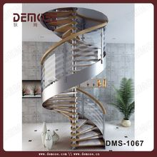 2015 hot spiral staircase dimensions in various space