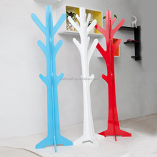 Hot Sell MDF coat tree any color/clothes hanger tree/wooden crafts jewelry hanger tree