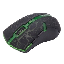 RF-6110 2.4GHz 800 / 1600 / 2000 / 3200 DPI Wireless Optical Mouse(Green)