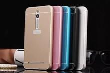 Anti-scratch Back Cover Aluminum Metal Bumper Frame + PC Phone Back Case for ASUS ZenFone 2 Ze551ml Z008d
