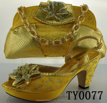high quality shoes and bags new design yellow shoes and matching bags italian mens leather with factory price