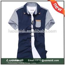 de diseño made in china profesional fábrica de camisas de manga corta para hombre coreano camisa casual 2014 nuevo estilo