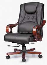 Executive Geniune Leather wooden office chair with factory price(EOE)