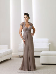 new fashion elegant cap sleeve lace mother dress long evening gowns