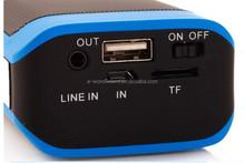 music mini bluetooth speaker with 4000mah power bank/TF Card/FM Radio