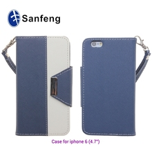 Funky wallet mobile phone case for iphone 6 leather case