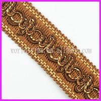 World trims wholesale woven border lace braid gimp trim for dress edge WTA194