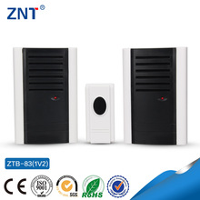 ZTP-83, one button and two bells,110v/220v,hot selling, 3 or 32 Tunes Songs, wireless doorbell, funny digital doorbell