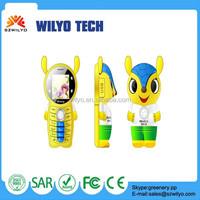 "WK9 Mascot kid Mini Phone 1.44 "" Quad Band Dual SIM GSM Very Small Size Mobile Phone Small Children Mobile Phone"