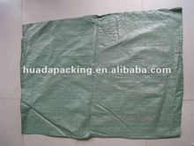 2012 green PP Woven bags for packing rubbish