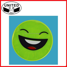 cheap promotion smile face high visibility light reflective stickers for safety