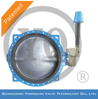 """Worm Gear Operated Concentric Rubber Lined Underground Butterfly Water Valve, DN 1.5""""-120"""", PN 1.0/1.6/2.5 MPa,"""