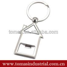 Hot sell house shaped logo customized opener aluminum christmas gift promotion gift