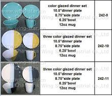 16pcs tricolor conjunto de cena de cristal de valores, colorido 16pcs conjunto cena stock