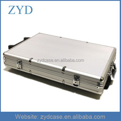 2014 NEW Design Aluminum/ABS Poker Chip Set Rolling Case ZYD-HZMpcc001