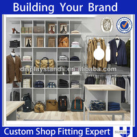 2014 TOP SELLING High Quality High Grade Island Pants Display Case For Men's Clothing Store Clothes Rack Wooden