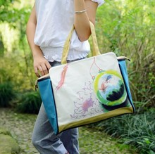 D80461F 2015 hot sale chinese women canvas bag