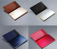 Promotional 2000mah credit card power bank ,stainless steel power bank charger,super slim battery bank with four led light