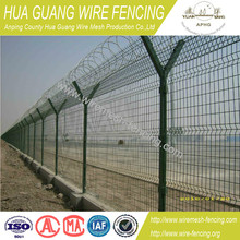 alibaba china 20 years factory direct cheap high security pvc coated hot dipped galvanized airport fence