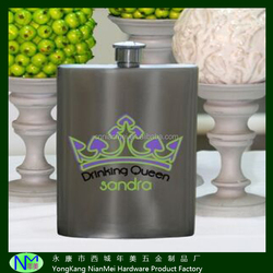 Factory direst sale hip flask with SGS approval stainless stell hip whiskey flask