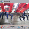 Top Quality Hydraulic System 32ton Overhead Grab Crane With Garbage Grapple