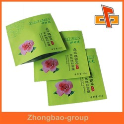 3 side heat seal plastic facial mask aluminium foil bag with printing for packaging