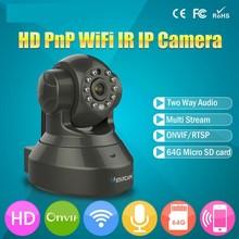 HD H.264 1.0MP 720P 3DB Wireless WiFi IP Camera Home P2P Pan Tilt Network CCTV IP Security Camera SD Slot Two Way Audio Surveill