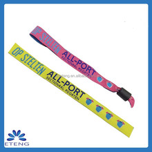 Trading business ideas unique gift music festival fabric wristband woven bracelet