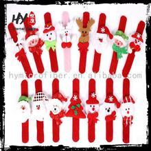 new product christmas ornaments wrist, christmas decoration supplies, plush slap band