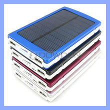 10000mAh Rechargeable Solar Mobile Charger for iPhone iPad Samsung 1.5W Solar Power Battery Charger