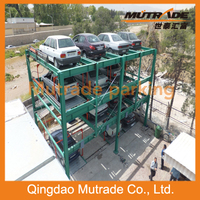Double Floors Slide And Lift Puzzle Parking Stacker Equipment Systems For Sale