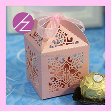 New Arrived Laser Cut Favor Box/wedding candy box /gift box party favor TH-132 Haoze Brand