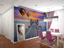 Ingrosso eco- friendy 3d enorme murale ballons caldo sul ponte di mare per camera da letto e sofà tv carta da parati murales
