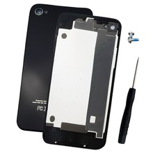 For iPHONE 4 BACK GLASS REAR DOOR BATTERY COVER PLATE MINT BLACK