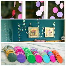 DIY decoration wall hangings curtain wedding party decoration festival indoor and outdoor decoration 4M long 6 color collections
