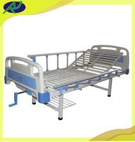 Practical manual hospital nursing bed with one adjustable rolling crank RJ-H6604