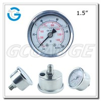 High quality bourdon tube stainless steel back connection accurate air pressure gauge
