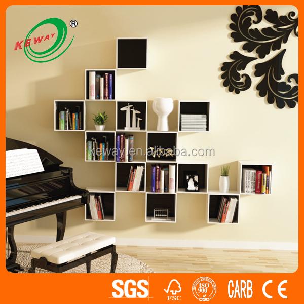Mural d coratif cubes mur en bois cube mur mur cube tag res meubles en bois - Mur separateur decoratif ...