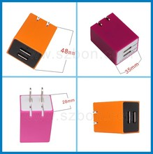 5V 2.1A dual USB travel battery charger for nokia n73 japan cell phone charger