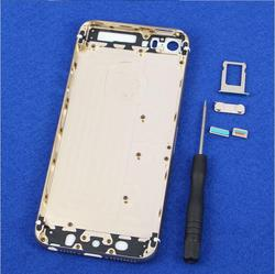 Door with frame for Apple for iPhone 6 Plus CDMA Gold Rear Back Panel Housing Cover