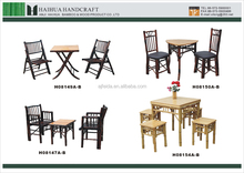 study outdoor garden wooden dining table chair set