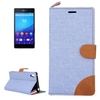 Paypal acceptable Denim Texture leather case for sony xperia z4 phone case