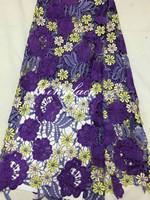 Wholesale guangzhou fabric market lace multi colored guipure lace
