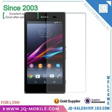 Hot Sale Tempered glass Screen Protector Film for Sony Xperia Z1 L39h mobile phone glass